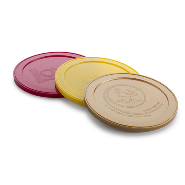 Plastic Bubbles 99mm Embossed Snap On Lids