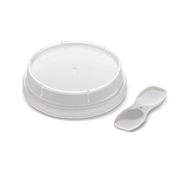 plastic bubbles caps closures and lids 74mm lid and ice cream spoon