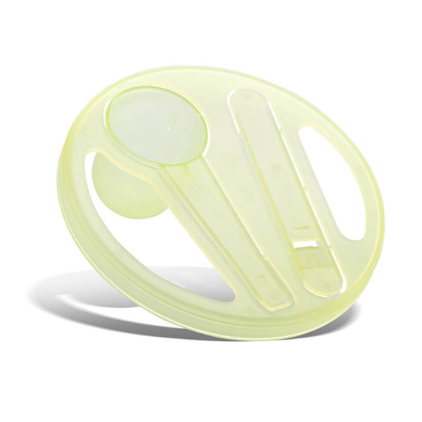 Plastic Bubbles Scoops Spoons And Measuring Cups 10.2ml Disc Spoon