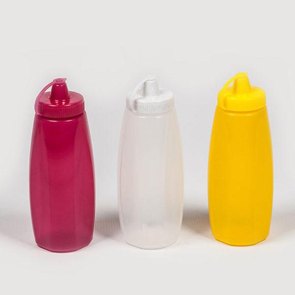 plastic bubbles 3 x 350ml sauce bottles