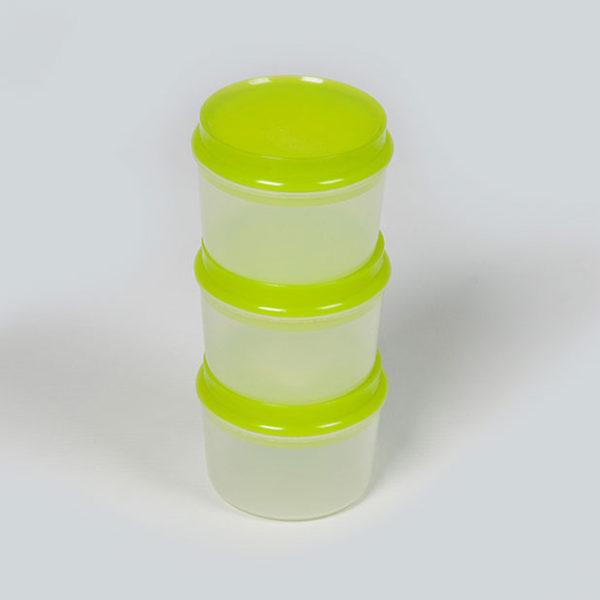 Plastic Bubbles 3x150ml Storage Containers 01
