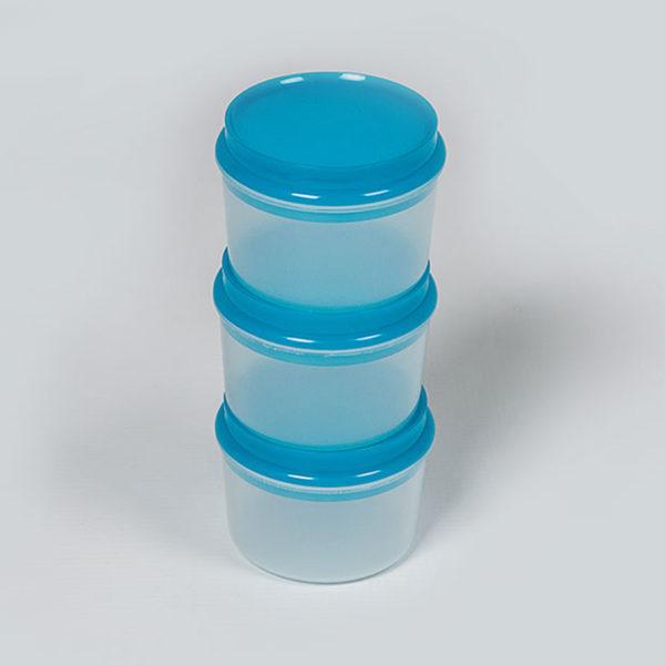 Plastic Bubbles 3x150ml Storage Containers 03