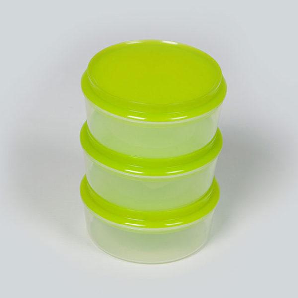 Plastic Bubbles 3x250ml Storage Containers 01
