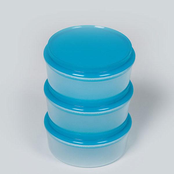 Plastic Bubbles 3x250ml Storage Containers 04