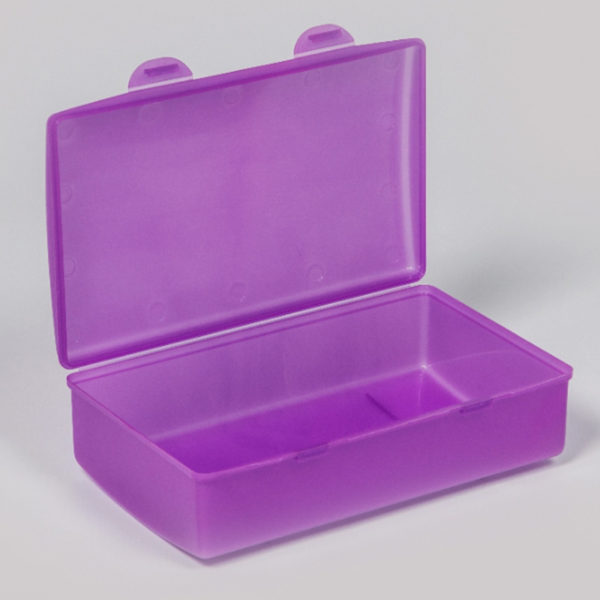 Plastic Bubbles Hinged Lunch Box 02
