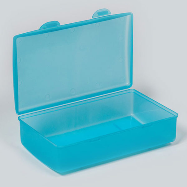 Plastic Bubbles Hinged Lunch Box 04