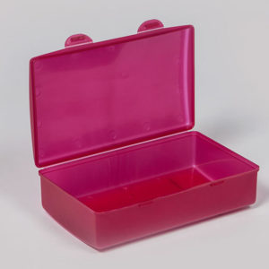 plastic bubbles hinged lunch box
